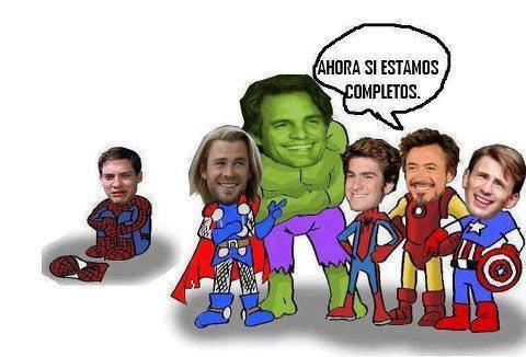 Spiderman se queda fuera del grupo de Los Vengadores