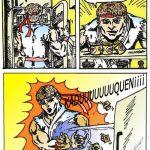 Ryu de Street Fighter se toma un yogur