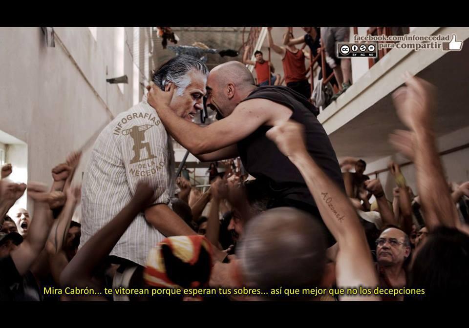 Bárcenas rindiendo cuentas ante los presos