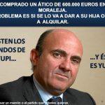 Luis de Guindos compra ático de 600.000 € en la moraleja