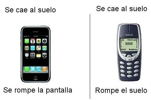 Móviles actuales vs móviles antiguos
