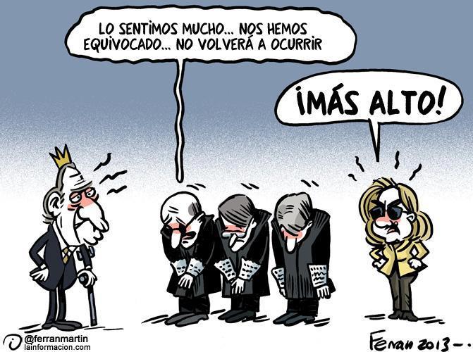 Los jueces españoles piden perdón al rey por imputar a la infanta Cristina