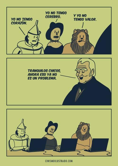 Los personajes de El Mago de Oz en la época actual