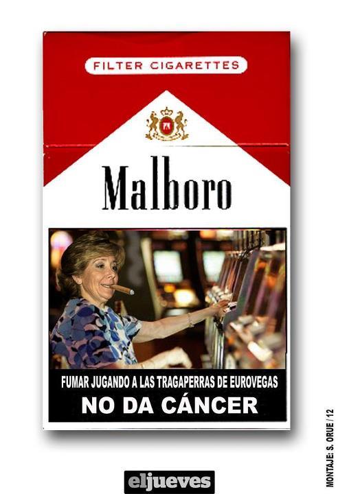 Fumar jugando a las tragaperras de Eurovegas no da cáncer
