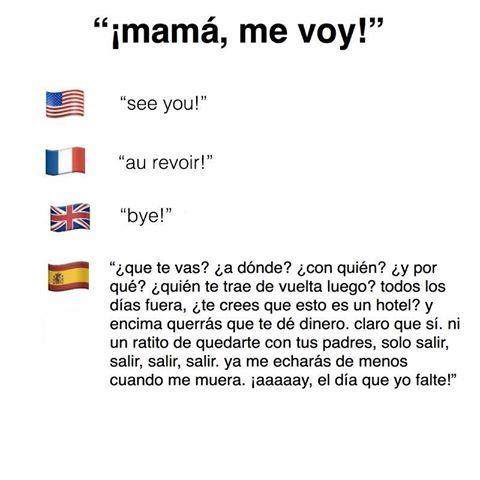 mama me voy en distintos idiomas