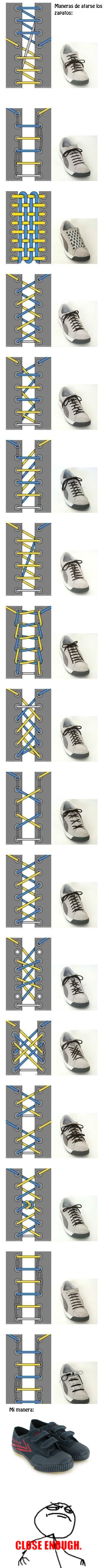 Maneras de atarse los cordones