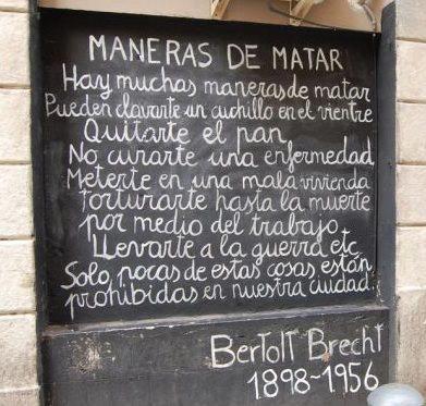 Maneras de matar (por Bertoll Brecht)