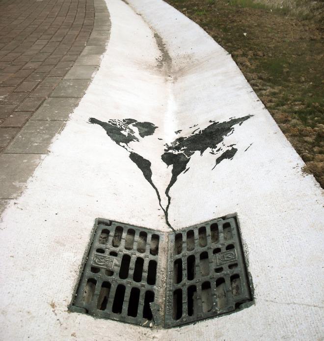 Arte urbano: El mundo se va a la mierda