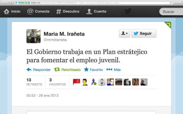 """El plan """"estrátejico"""" del PP de María M. Irañeta"""