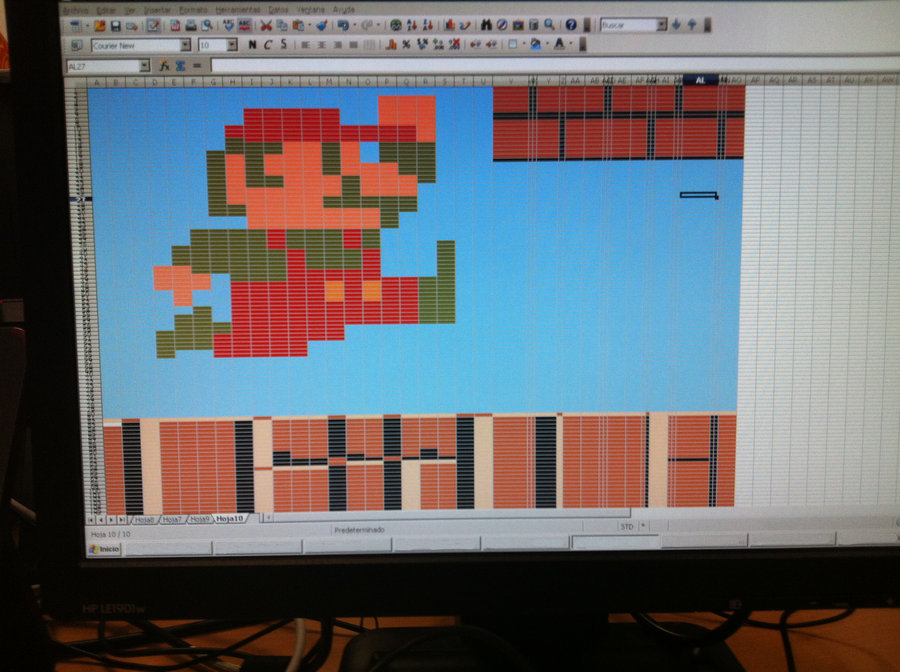 Mario Bros con Excel