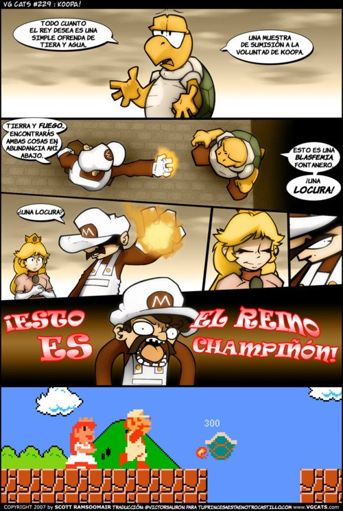 Mario Bros - Esto es el reino champiñón