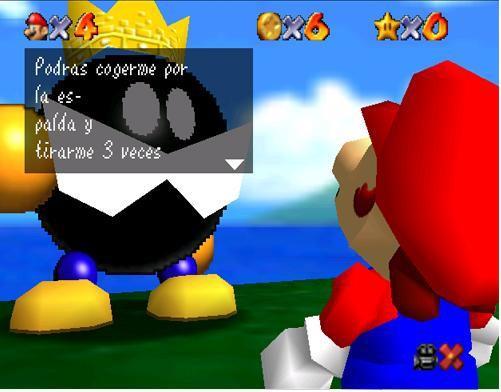 Mario Bros - Podrás cogerme por la espalda y tirarme 3 veces