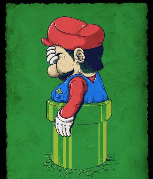 Mario Bros atascado