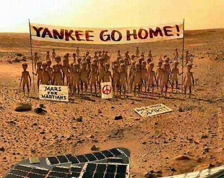 Recibimiento del Curiosity en Marte