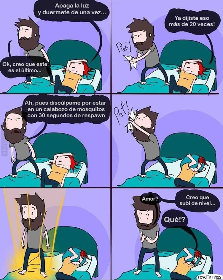 Humor gamer - Matando mosquitos