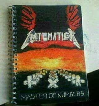 Cuaderno de Matemáticas de un fan de Metallica