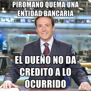 Matías Prats: Pirómano quema una entidad bancaria