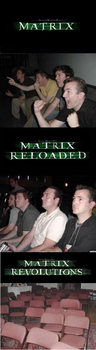 Matrix, Matrix Reloaded y Matrix Revolutions (reacciones)