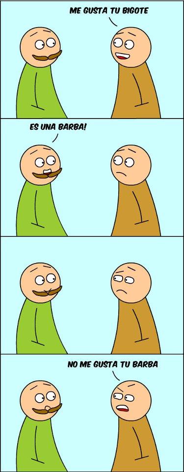 No me gusta tu barba
