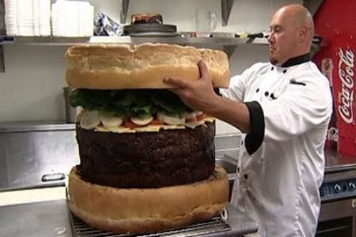 Mega hamburguesa