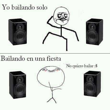 Bailando solo / bailando en una fiesta