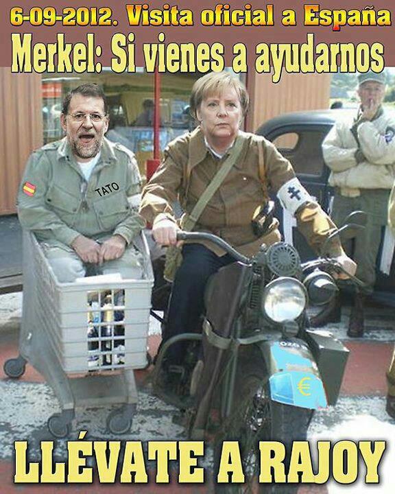 Petición a Merkel en su visita oficial a España