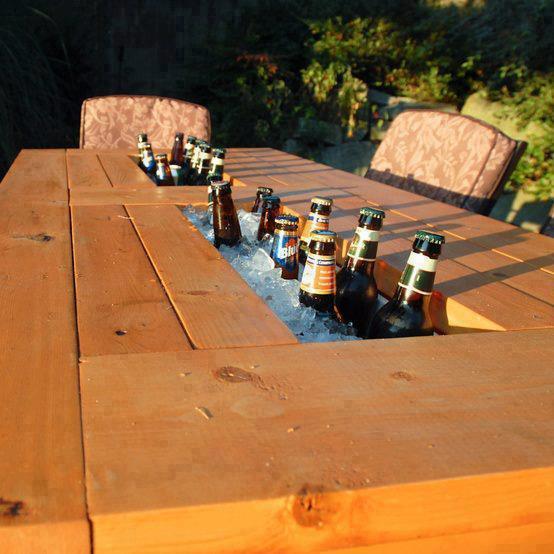 mesa con hueco para hielos