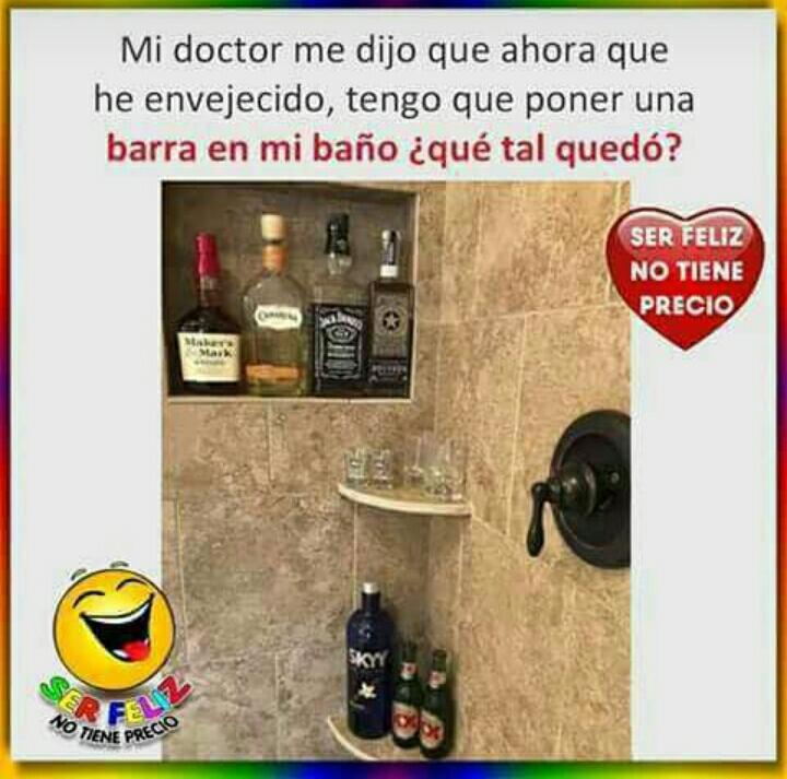 Mi doctor me dijo que ahora que he envejecido tengo que poner una barra en mi baño...