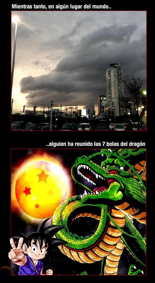 Mientras tanto, en algún lugar del mundo, alguien ha reunido las 7 bolas del dragón
