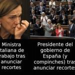Diferencias entre el gobierno español e italiano tras anunciar recortes