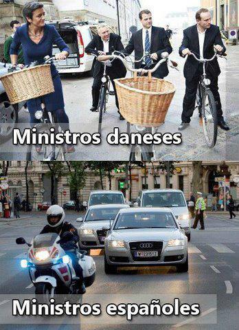 Ministros daneses / ministros españoles