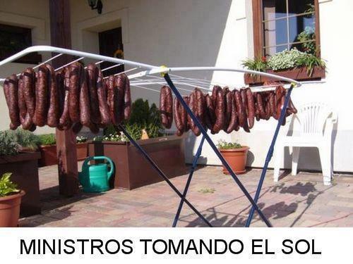Ministros tomando el sol