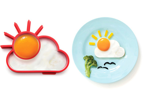 Molde para huevo frito sol y nube