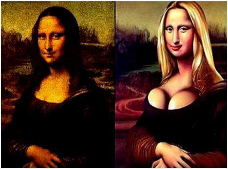 Mona Lisa - Antes y después de pasar por el quirófano