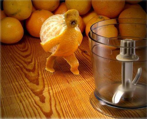 La naranja trabajadora