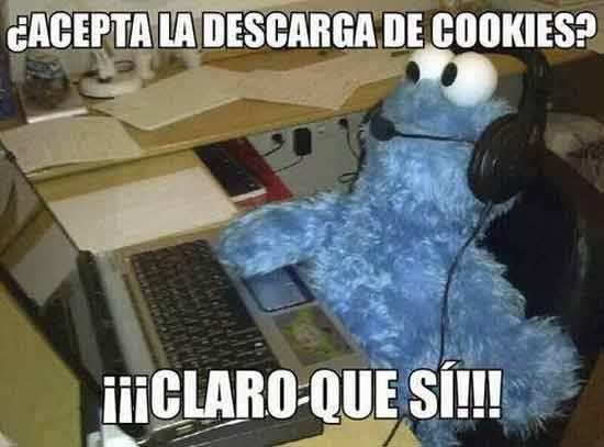 monstruo de las galletas acepta la descarga de cookies claro que si