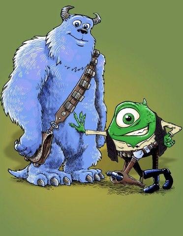 Monstruos S.A. - Han Solo y Chewbacca