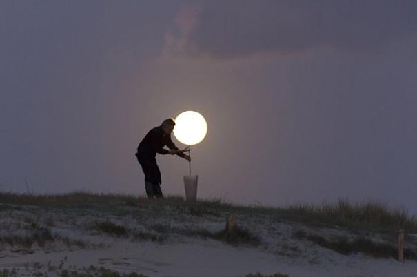 Lámara con la luna