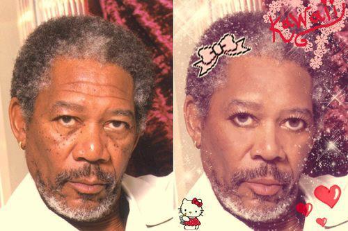 Morgan Freeman - Hello Kitty style