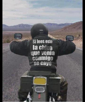Cosas que pasan cuando vas en moto