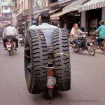 Transporte rápido de ruedas
