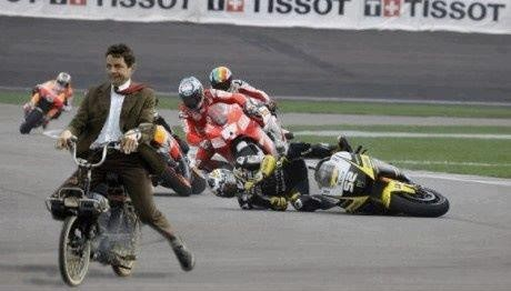 Mr Bean en MotoGP