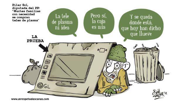 Muchas familias con necesidad se compran teles de plasma (Pilar Sol, diputada del PP)
