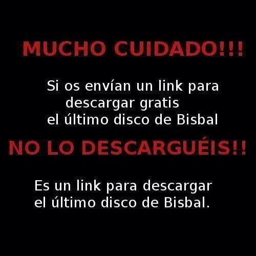 ¡Aviso! Cuidado si os envían un link para descargar gratis el último disco de Bisbal