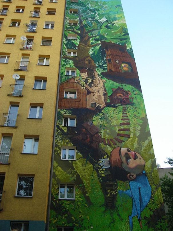 Mural - Casa del árbol