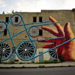 Mural – Cordel y ruedas (Baltimore, EEUU)
