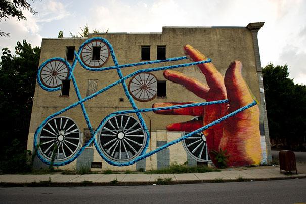 Mural - Cordel y ruedas (Baltimore, EEUU)