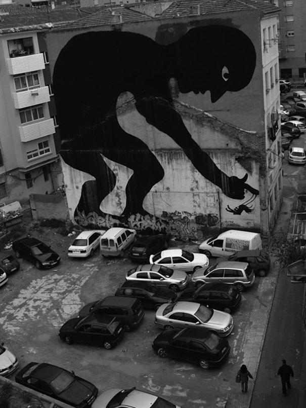 Mural - Gigante y columpio