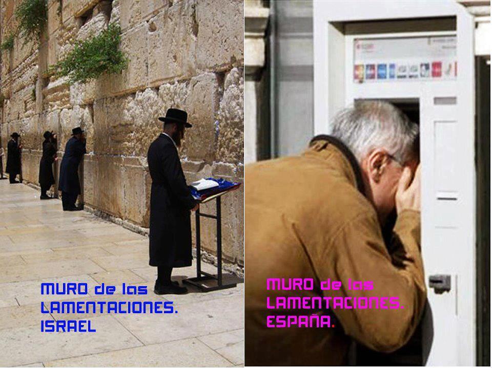 Muro de las lamentaciones en Israel y en España