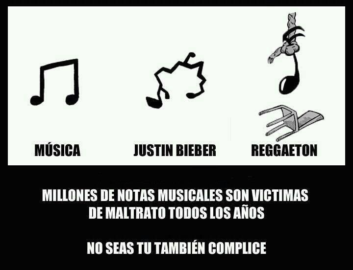 musica - justin bieber - reggaeton - millones de notas musicales son victimas de maltrato todos los años